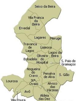 oliveira do hospital mapa Oliveira do Hospital não escapa à extinção de freguesias – Correio  oliveira do hospital mapa