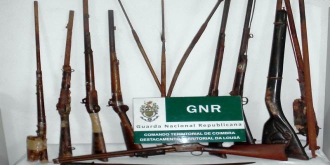 Detido em Tondela por posse ilegal de armas