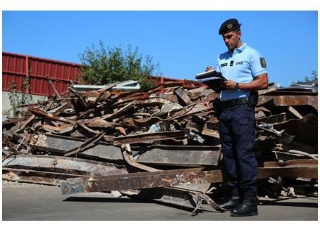 GNR encerra quatro OGR em operação de fiscalização de potenciais vias de escoamento de materiais furtados e locais suspeitos receptação.