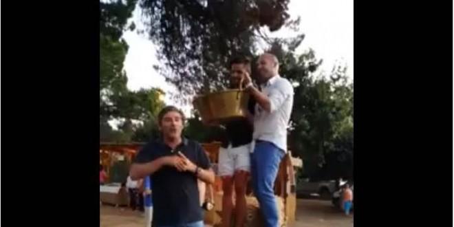 José Rolo participa no Banho Publico e dá donativo ao Banco de Recursos Sociais