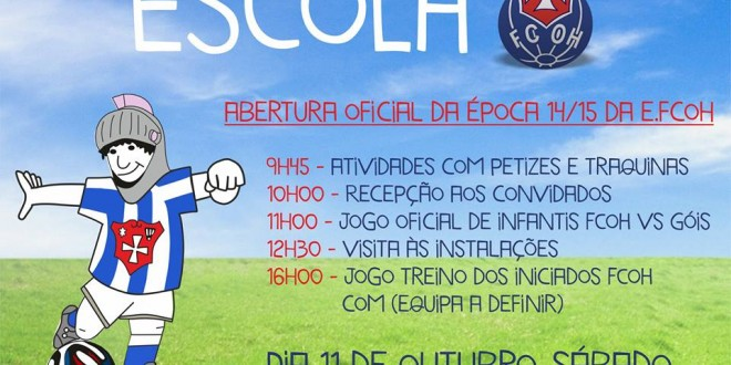 FC Oliveira do Hospital apresenta amanhã escolas de formação