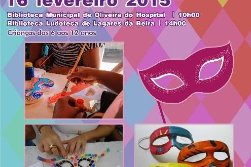 Oficina de Máscaras de Carnaval para crianças nas bibliotecas de Oliveira do Hospital