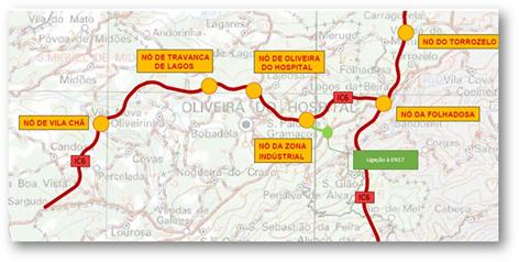 ic6 mapa IP anuncia que projecto de execução do troço do IC6 entre Tábua e  ic6 mapa